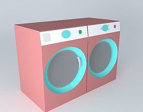 Front Loading Washer Dryer 3D