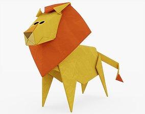 3D asset Origami Lion