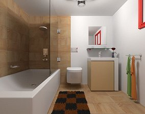 Modern Bathroom 1 3D model