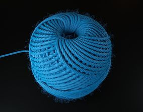 3D model Hemp rope roll