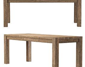 3D model RH Reclaimed Russian Oak Dining Table
