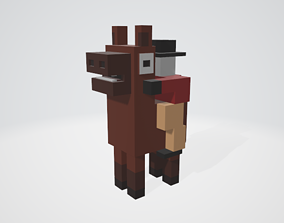 Crossy Road type game Horse and Rider 3D asset