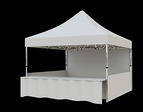 3D Marketing tent 4x4m market