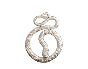 Snake pendant 3D print model coulomb