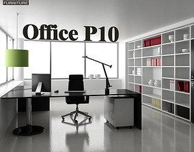 set 3D asset VR / AR ready Office Set