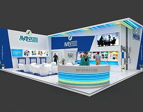 Exhibition stall 3d model 12x10 mtr 2 sides open Plastics