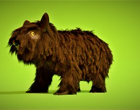 A hairy animal 3D asset