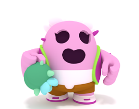 Brawl Stars Sakura Spike 3D print model