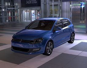 Volkswagen Polo 3D model low-poly