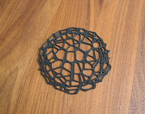 Drink coaster - Voronoi No IX 3D print model