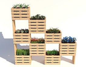 modular wall planter 3D model