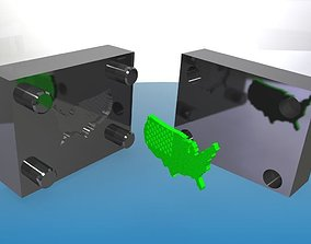 USA Flag Accurate Mould 3D print model