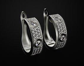 3D printable model Set ring and earrings Love
