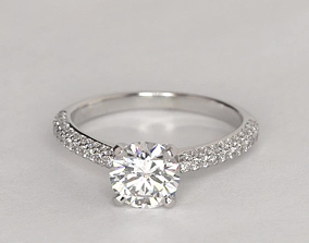 sapphire fancy ring 3D print model