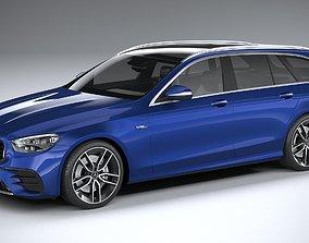 3D model Mercedes E53 AMG Estate 2021