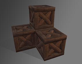 3D asset Wood Box detail