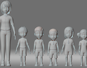boy teacher student child people animation role 3D