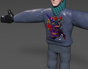 man 3D model low-poly Male Character