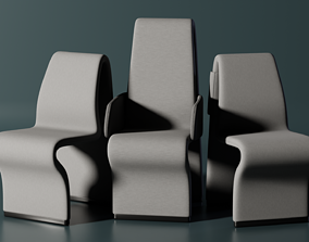 Enterprise D Ten Forward Chair 3D model