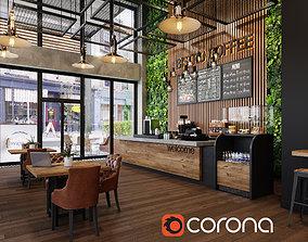 coffee shop 3D corona