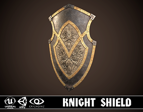 3D asset Knight Shield 01