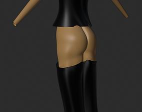 3D model Extended female torso