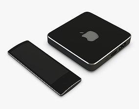 3D Apple TV Box Black Concept show