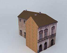 Urban 19th Century Corner House 3D asset