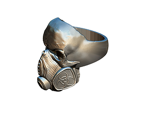 Toxic Skull Ring 3D print model