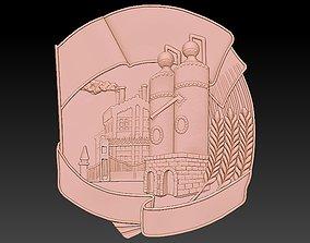 Badge Factory Beer 3D print model