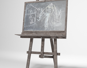3D Kids easel with blackboard