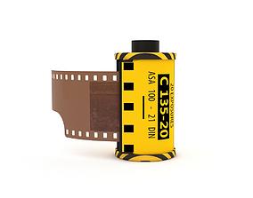 3D 1977 Kodacolor II C 135-20 Color Negative Film