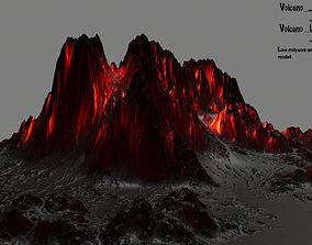 rock volcano 3D model VR / AR ready