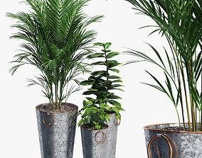 3D model Lillian Galvanized Planters