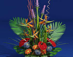 3D exotic bouquet