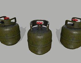 Oxygen Tank 3D asset low-poly