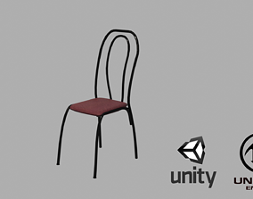 3D model game-ready Vintage chair