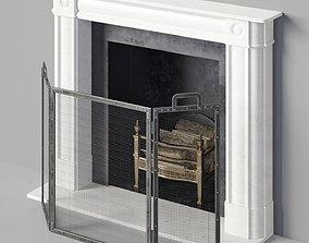 Fireplace 3D stone