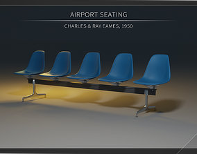 3D Airport Seatings Chairs - 001