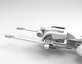 3D model Anti Air Cannon