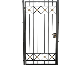 3D Wrought iron gate 09