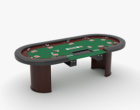 Poker Table 3D model poker