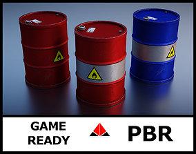 3D model PBR Barrel