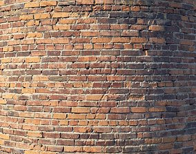 Brick wall with damage 3D