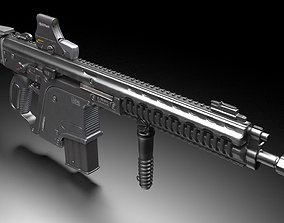 Heckler and Koch G56 - automatic rifle 3D gun
