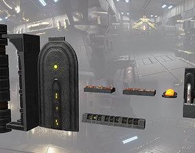 VR / AR ready SciFi Asset Hangerpack 004