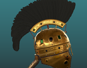 Highly Detailed Late Roman Feather Crested 3D model 1