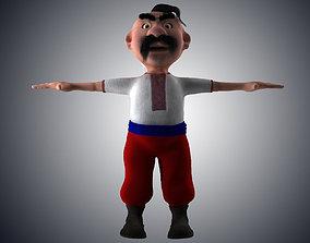 Cartoon Ukrainian 3D asset