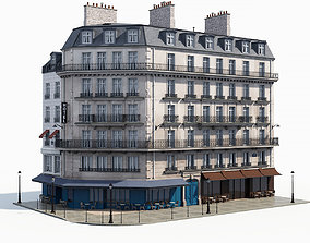 3D model Corner haussman facade