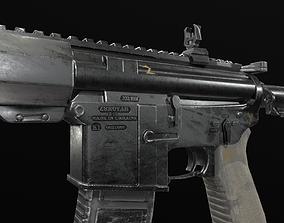 game-ready Zbroyar Z-15 AR-15 M4A4 LOW POLY MODEL FREE
